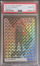 New Listing2019-20 Panini Mosaic Kevin Durant Silver Mosaic #1 Psa 10 Gem Mint