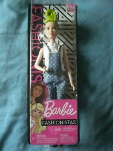 BARBIE DOLL FASHIONISTAS No 124 BLUE DUNGAREES GREEN MOHICAN   NEW IN BOX