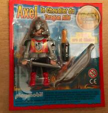 FIGURINE PLAYMO PLAYMOBIL DE MAGAZINE :  AXEL LE CHEVALIER DRAGON DU MOYEN AGE