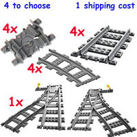 Lego Train Tracks straight,curve,switch,flexible for 7939/60052/3677/60098/60097