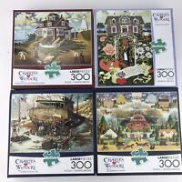 4 Boxes Charles Wysocki Buffolo Jigsaw Puzzles - 4 X 300 Large Pieces