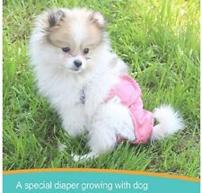 Paw Legend Reusable Female Dog Diapers(3 Pack,Adorable,X-Small)