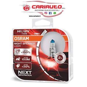 COPPIA H1 +150 LAMPADE OSRAM NIGHT BREAKER LASER 64150NL-HCB 12v 55w
