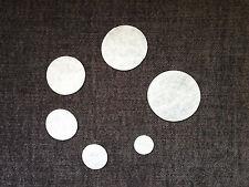 Lote de 70 circulos blancos de fieltro (ojos amigurumi,toy doll making,felt)