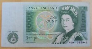 GB 1 pound note signature Page 1978 issue