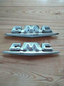 Original 1958 1959 GMC TRUCK FENDER EMBLEM 2362154