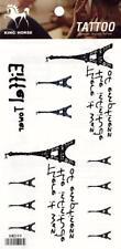 Temporary Tattoo Eiffel Tower Paris Body Art Removable HM599