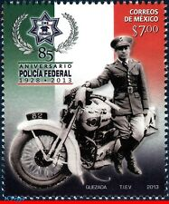 2857 MEXICO 2013 FEDERAL POLICE, 85th ANNIV., MOTORCYCLE, MOTO, MNH