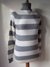 Zara Cotton Blend Striped Jumpers & Cardigans for Women