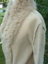 DOLCE & GABBANA SHEEPSKIN COAT FUR TRIM LONG STYLE Furs Label  Size IT 42 UK 10