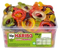 HARIBO GIANT SUCKERS 1 TUB OF RETRO SWEETS CANDY TREATS PARTY GIANT DUMMIES