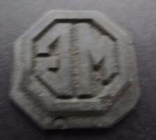 Ancienne Petit Blei-Druckplatte MG Logo Automobile Oldtimer Cachet Stempelplatte