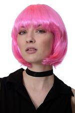 Perücke Bob kurz & frech Pink Disco Go-Go Girl 60er 70er Jahre Party Fasching