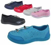 Girls Trainer Kid Summer Casual Walking Comfort Fashion Canvas School Shoes Size