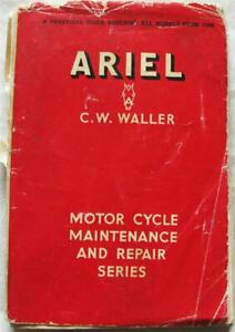 Pearsons ARIEL All Model 1948-60 Motorcycle Maintenance Handbook 1961 6th Edit.