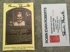 ROBIN ROBERTS PHILADELPHIA PHILLIES AUTOGRAPHED HOF PLAQUE & INDUCTION CARD LOT