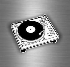Sticker decal art wall car moto biker DJ headphones music turntable laptop