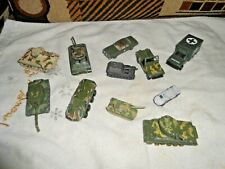 LOT OF MILITARY TANKS DIECAST PLUS ECT