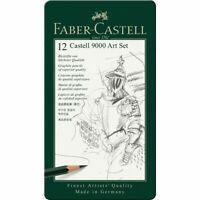 Faber-Castell 9000 Graphite Pencils Art Tin Set of 12 - 2H - 8B