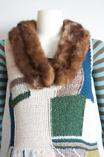 VTG Roberts Furs Brown Mink Collar Neck Scarf Add Fur to Your Sweater / Dress