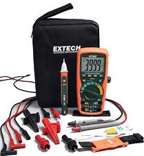 Extech EX505-Kit Heavy Duty Multimeter & AC Volt Detector Kit w/Test Lead Kit