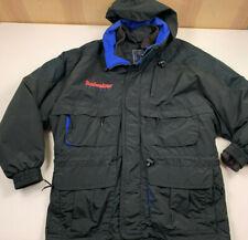vintage BUDWEISER SKI TEAM WINTER JACKET black size XL 90's hood MOUNTAIN GOAT