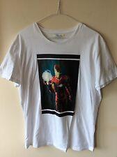 Da Uomo Bianca ICEBERG T-shirt UK TAGLIA XL Ironman stampa RRP £ 150