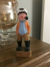 New ListingVintage Wood Carved Sea Captain Sailor Figurine - Nautical Decor