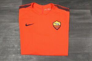 Nike BREATHE SQUAD AS Rom Trainingsshirt Herren Roma Tee Shirt Mens Größe XXL