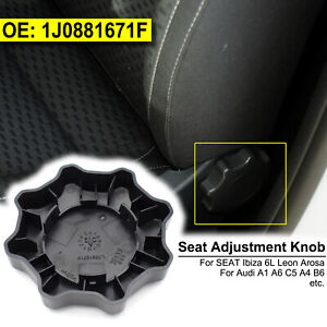 For Audi A4 SEAT Leon Black Seat Adjustment Knob Cap Adjuster Backrest Handle