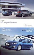 Two Hyundai i40 Wagon & Sedan 03 / 2014 brochures catalogues polonais Poland