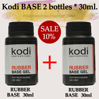 2 BOTTLES! Kodi Professional BASE 30ml. + BASE 30ml. Gel LED/UV Rubber Nail Coat