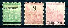 KAP d G HOFFNUNG 1876 17,19,21II ungummiert (J0332