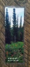Picture GPS Mountains Photo Handmade Laminated Bookmark Wild Flower Meadow