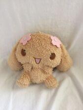 SANRIO BANPRESTO Plush Stuffed MOCHA Tan Puppy CINNAMOROLL Friend Pink Flowers