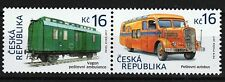 Historic vehicles Bus Railcar se-tenant pair mnh stamps 2017 Czech Republic