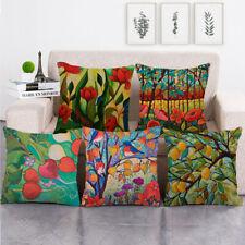 Rústico Granja Árbol Flor Cushion Covers Funda de Almohada Sofá Dormitorio Decorativo