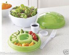 Tazón de fuente de almuerzo * Tenedor de aderezo para ensalada de fruta Taza de merienda Compartimiento Caja preferidos Bandeja