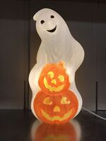 Blow Mold Halloween Ghost with Pumpkins Light Up Decoration New Stock 31""