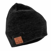 Tenergy men's Black Bluetooth hands free cell phone music knit Beanie hat