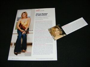 ALISON KRAUSS magazine clippings
