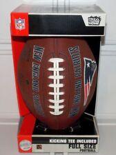 2007 Official Nfl New England Patriots Team Logo Full Size Football W/ Tee K2Lp