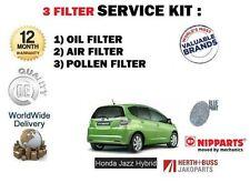 PARA Honda Jazz 1.3 hybrid LDA3 2008- > NUEVO Aire Aceite Pollen 3