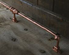 Vintage foot rail, gold, home bar, metal, cast iron, bar, kitchen