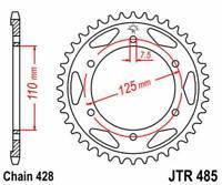 Vicma R48546 Couronne Plat Transmission Arrière JT 485