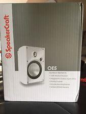 Brand new SpeakerCraft OE5 outdoor / Stereo Speakers white