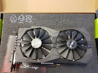 USED !!! Asus Geforce GTX 1050 TI Strix GeForce GTX1050 Graphic Card 4GB