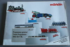 X252 MARKLIN Train catalogue Ho 1992 1993 338 pages 28,5*21 cm F NL