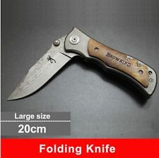New Folding Knife Browning 440C Stainless Steel Damascus Tattoo Knife