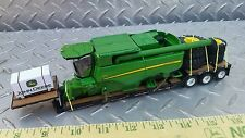 1/64 ERTL farm toy custom John deere s690 combine loaded on dcp lowboy trailer